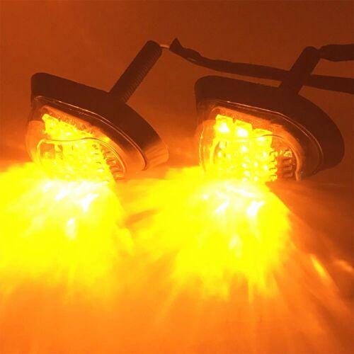2pcs 9LED Motorbike Indicators Turn Signal Motorcycle Pair Piranha Light Flasher