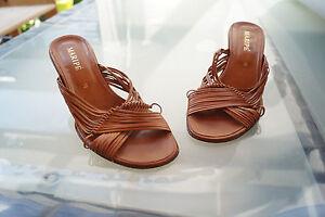 Details zu schicke MARIPE Damen Sommer Schuhe Sandalen Clogs Gr.38 Leder braun TOP #4k