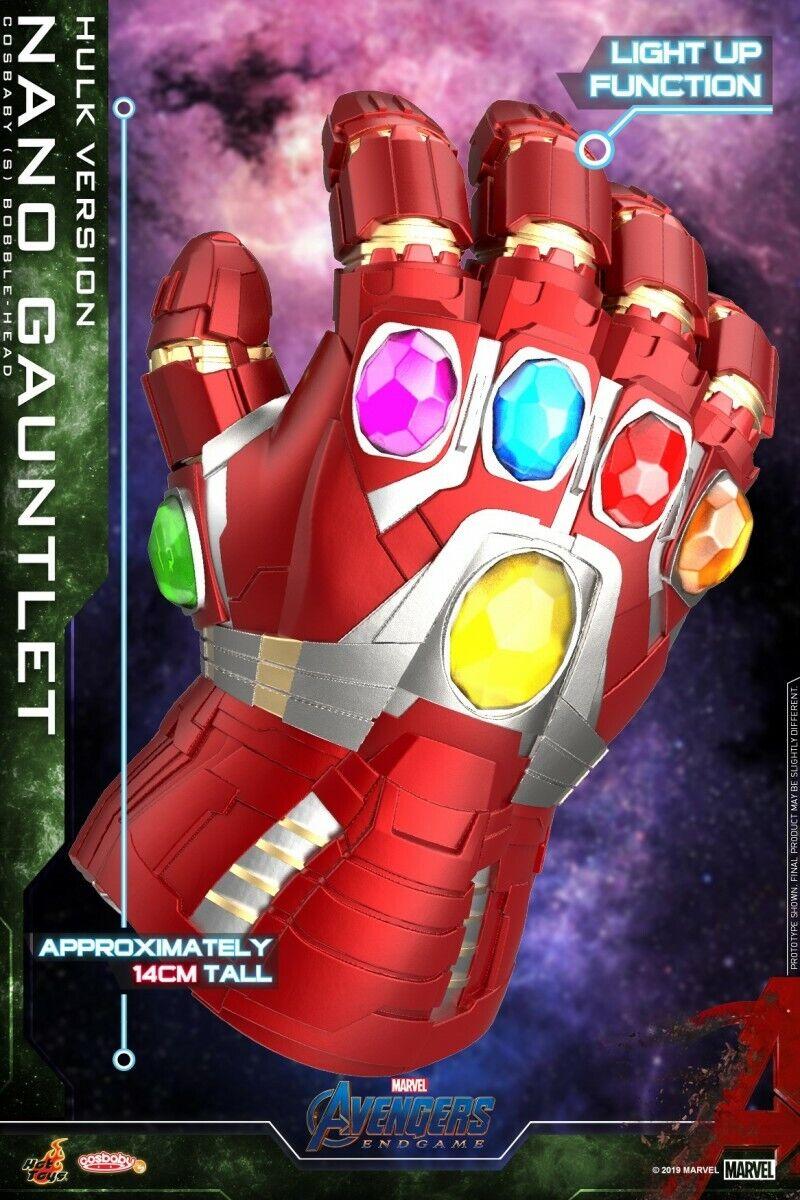 Hot Juguetes Artesanía 647 Nano Guantelete Hulk Figura Modelo Vengadores Tacho versión con LED
