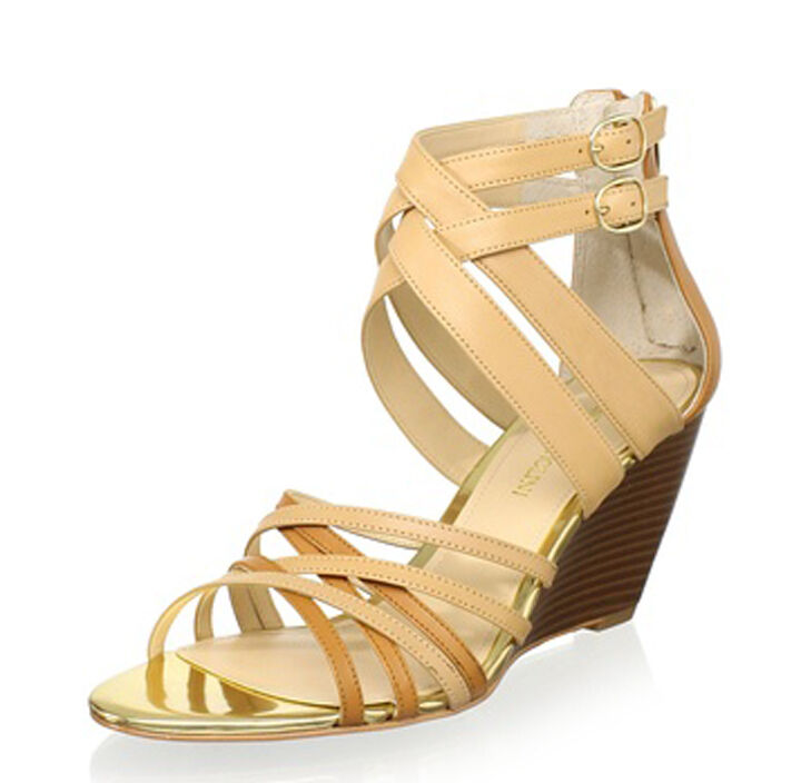 ENZO ANGIOLINI GENUINE LEATHER MEZMERIZE WEDGE SIZE SANDALS - SIZE WEDGE 10, GIFT FOR HER 3bc2d5
