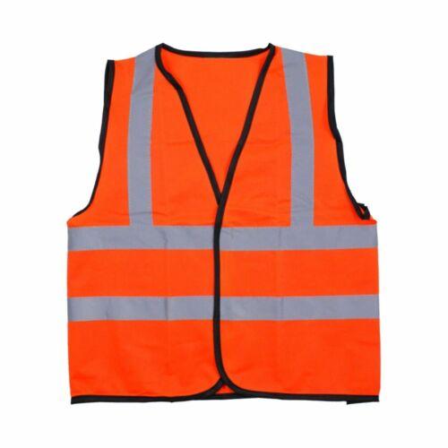 Devon//Dorset Gialloarancione Bambini Hi Vis visibilità Viz Gilet di sicurezza
