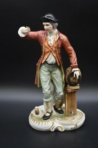 "Carl Thieme Dresden German Victorian Man Toasting 10"" Figurine"