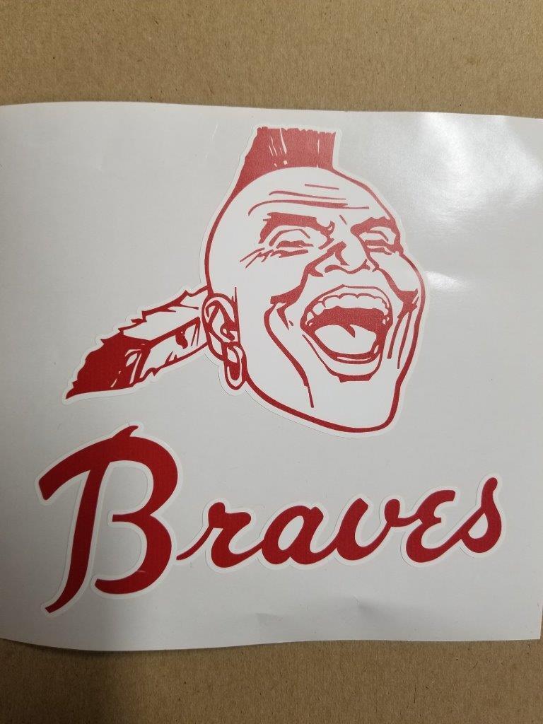 Atlanta Braves cornhole board or vehicle decal(s)AB4