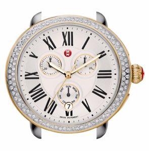 New-MICHELE-Serein-Womens-TT-Gold-Silver-100-Diamond-Ladies-Watch-MW21A01C5966