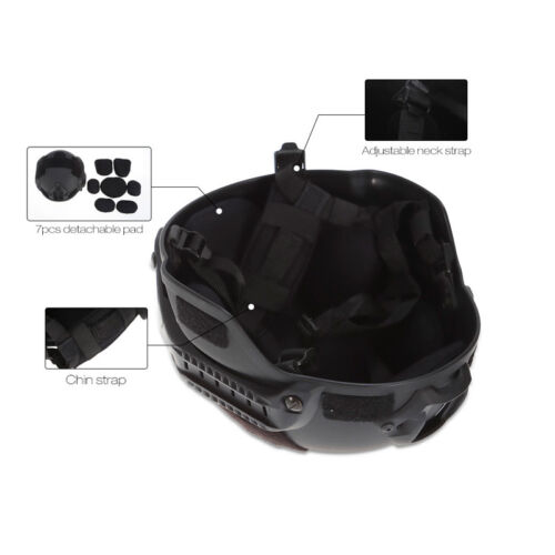 Military Tactics Airsoft Paintball SWAT Protective Fast Helmet With Goggle US