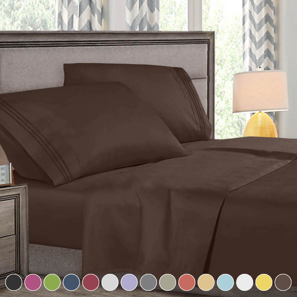 Super Deluxe 1800 Count Hotel Quality 4 Piece Deep Pocket Bed Sheet Set    eBay