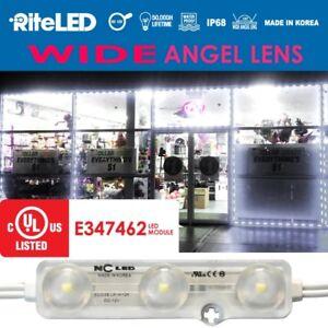 Wide angle 25Ft Store Front Window LED Light Kit 50pcs White NC LED Outdoor