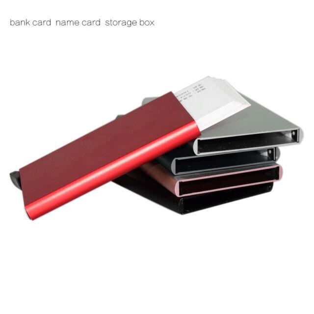 Cards Unisex Aluminum Slim ID Credit Card Holder Purse Wallet Money Clip Cases