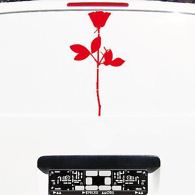Violator Rose 50cm rot Aufkleber Auto Tattoo die cut Deko Folie Depeche Mode