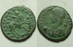 Constantius II spearing fallen enemy horse rider/R2/Rome/Rare ancient Roman coin