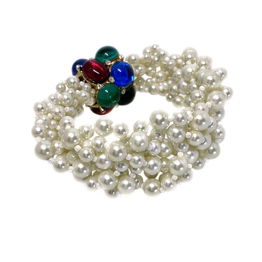 Arnold Scaasi Pearl Bracelet - image 1
