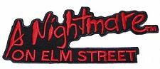 A Nightmare On Elm Street Name Iron-on/Sew-on Embroidered Logo PATCH