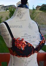 Lise Charmel embroidered balconette bra (so people), black multi, 32D/85D/70D,