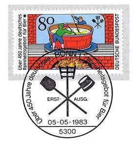 Rfa 1983: Deutsches Pureté Offre Pour La Bière Nº 1179! Bonner Cachet! 1a! 155-afficher Le Titre D'origine