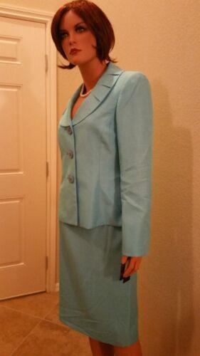 Tuileries 200 Blazer 2pc Rok Suit Wtags Geweldig Lichtblauw Jas Nieuw Le 4p15AwqxWv