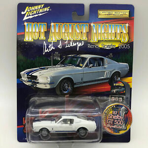 Johnny-Lightning-2005-HAN-Reno-67-Mustang-Shelby-GT500-Die-Cast-Car-Signed