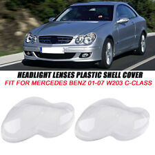Guangcailun For Mercedes W203 C-Class 01-07 1pair Headlight Lampshade Right Left Lens Shell Cover Trim Accessories