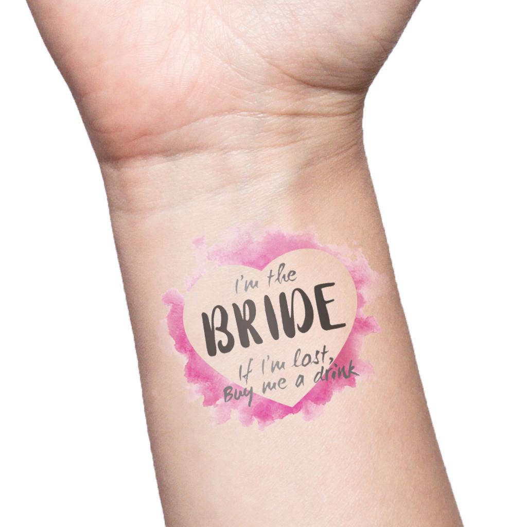 Custom Team Bride Bachelorette Party Tattoos Hen/'s Night Temporary Tattoos