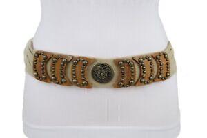 Women Ethnic Fashion Bohemian Belt Hip Vintage Antique Gold Metal Charm Buckle M
