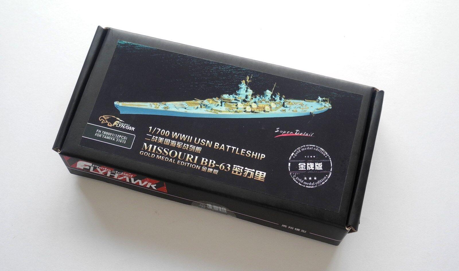 Flyhawk 1 700 780001 USS Missouri BB-63 for Tamiya Glod Medal Edition