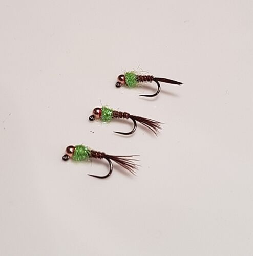 Jig Hooked Nymphs 3 Tungsten Beaded Lime Flash Pheasant Tail