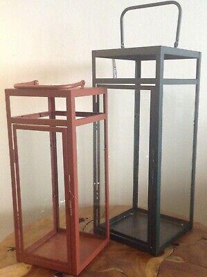 GROSSE LATERNE STANDLATERNE 60 cm Mordern METALL WINDLICHT Lampe Sale