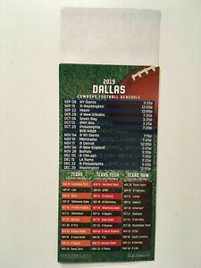 a0ebb37b Details about NFL 2019 DALLAS COWBOYS MAGNET SCHEDULE / TEXAS, TEXAS TECH &  TEXAS A&M - NEW