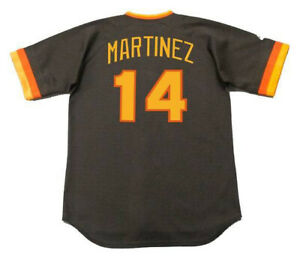 new style 03a32 081e1 Details about CARMELO MARTINEZ San Diego Padres 1984 Majestic Cooperstown  Away Baseball Jersey
