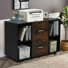 New Listingmobile File Cabinet Printer Stand With Wheels Office Bedroom Storage Rack