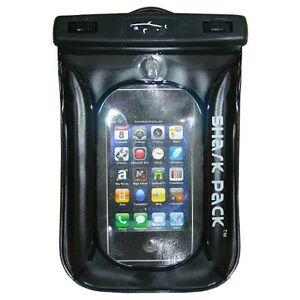 Shark-Pack-Aqua-Wallet-Sand-amp-Waterproof-I-Phone-Cell-Phone-Protector-Black