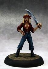 Red Petals Su Reaper Miniatures Savage Worlds Female Pirate Melee Sword Cutlass