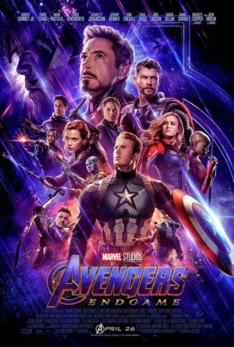 "Avengers Endgame Movie Poster 12x18/"" 24x36/"" 27x40/"" 2019 Film End Game Silk Print"