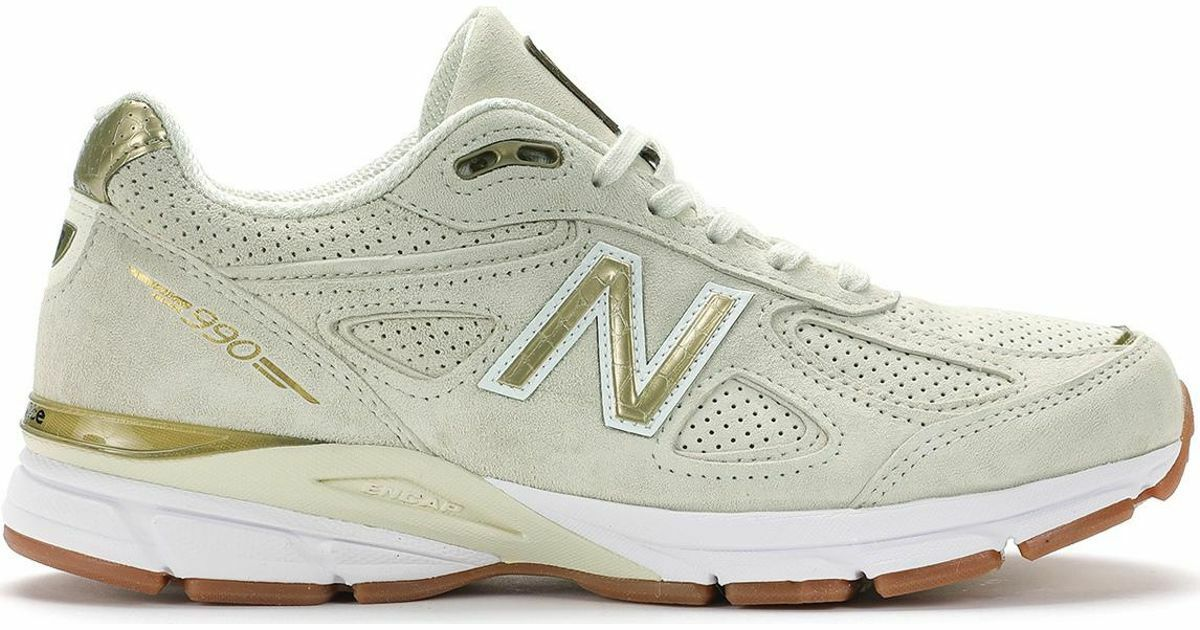 100% AUTHENTIC LIMITED EDITION NEW BALANCE W990AG4 gold. MADE IN USA  NEW N BOX.