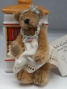 Rare 1996 Deb Canham First Mohair Collection Teddy Bear Flore