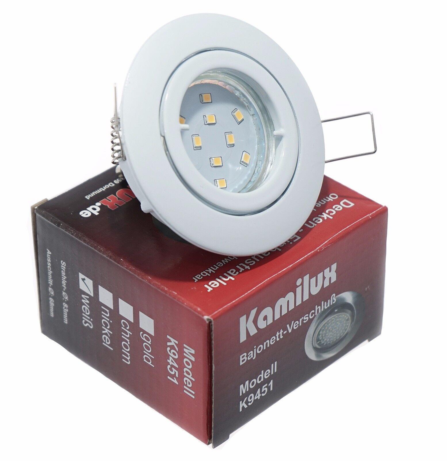 Sets  kamilux ® k9451 Recessed Ceiling lichts gu10 5w SMD LED Spotlicht = 50w ip20