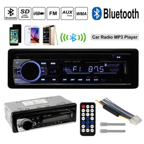 Universal Car Stereo Radio Bluetooth In-dash Head Unit Player FM MP3//USB//SD