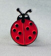 Lady bird / Ladybird / Ladybug Enamel & Metal Lapel / Pin Badge - 24mm BRAND NEW