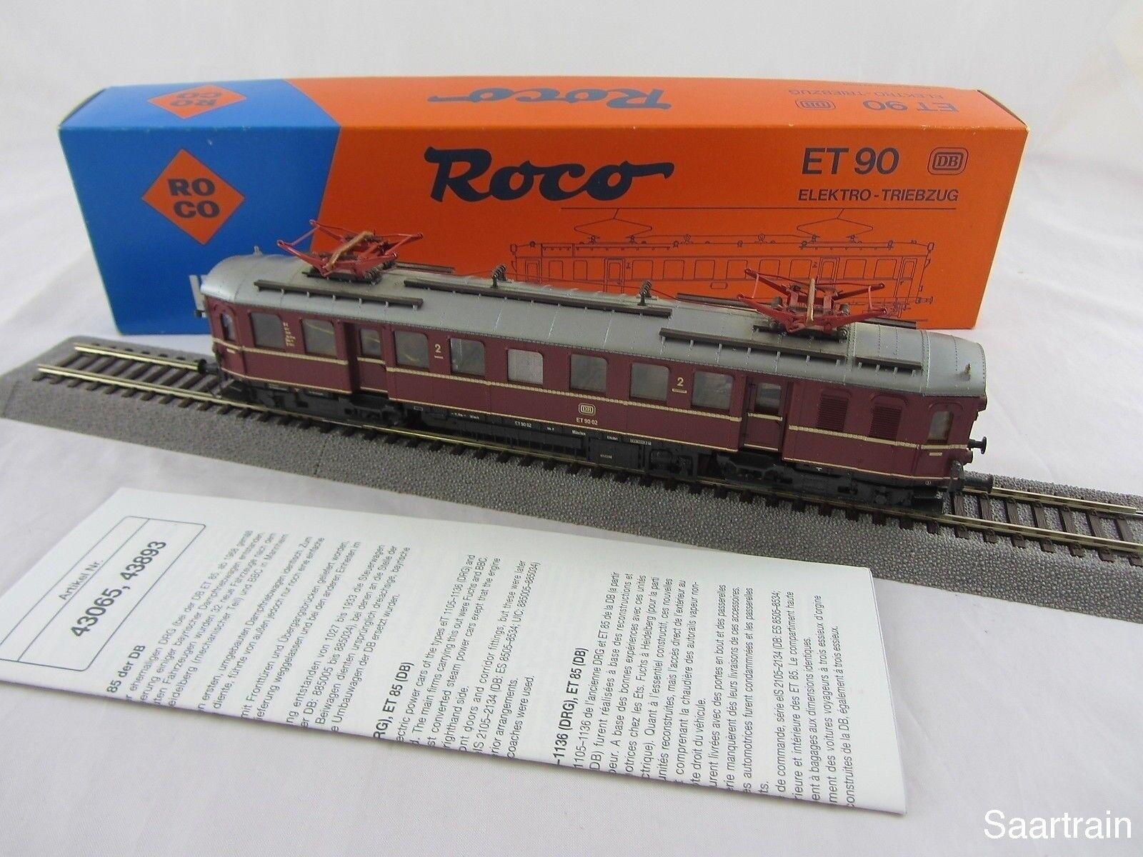 ROCO 04185A Elektro Triebzug ET 90 02 der der der DB rot guter Zustand mit OVP    Ruf zuerst  61c35d