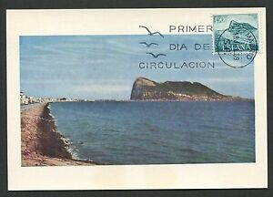 Spain Mk 1969 Gibraltar Maximum Carte Carte Maximum Card Mc Cm D3800