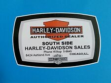 CHICAGO USA Vinyl DECAL STICKER HARLEY DAVIDSON MOTORCYCLE BSA ARIEL POPE