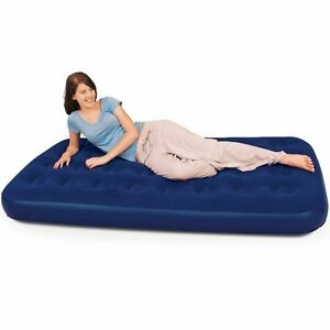 60-OFF-Bestway-Comfort-Quest-Flocked-Single-Air-Bed-Blue-185-x-76-x-22-cm