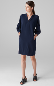 Whistles -- Hallie Trim Detail Dress - Navy bluee - Size 14 - New With Tag