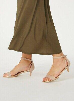 New Dorothy Perkins Camel Saint Block Heel Sandal Size 3-6