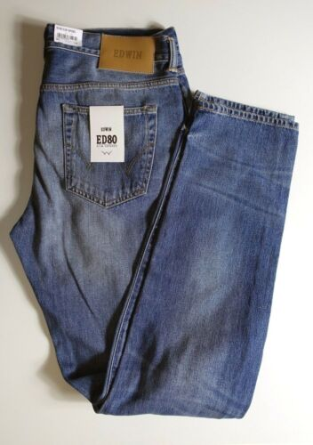 Japan Pantalon Neuf 80 W33 L34 Edwin Ed Bleu tiquette Jeans Slim Tapered qff1rI