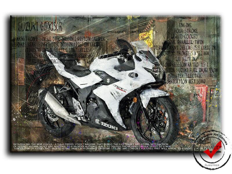 SUZUKI GSX 250r Moto Image Toile images la motorbike, fresque Poster DECO motorbike, la 905037