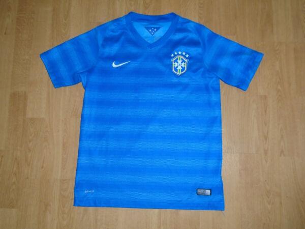 Camicia Del Brasile Per 13-15 Anni, Nike, Ottime Condizioni, Regno Unito Consegna Gratuita! Corrispondenza A Colori