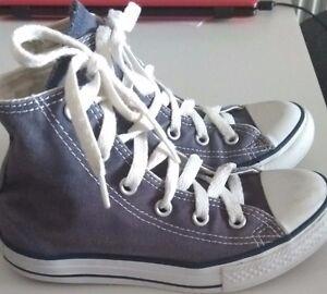 310a117e52c9 Converse All Star Chuck Taylor Blue Lace Up High-top Baseball Boots ...