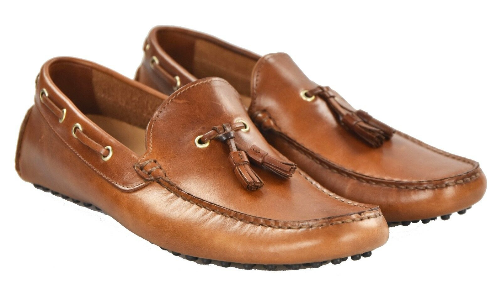 NEW KITON NAPOLI LOAFERS SHOES 100% LEATHER SIZE 9.5 US 42.5 O28