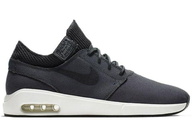 cost charm best wholesaler sale retailer Nike SB Mens Air Max Janoski 2 Premium Skate Shoes Anthracite Black Size 13