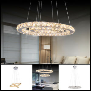LED-Crystal-Oval-Pendant-Lamp-LivingRoom-DIY-Chandelier-Ceiling-Fixture-Lighting